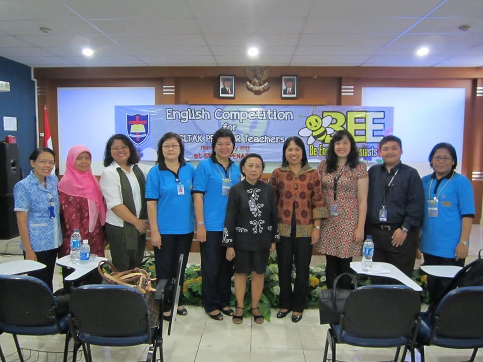 English department team and BPK Penabur team