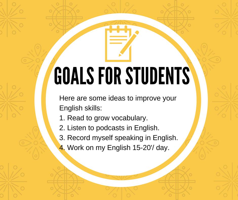Goals For English Skills.