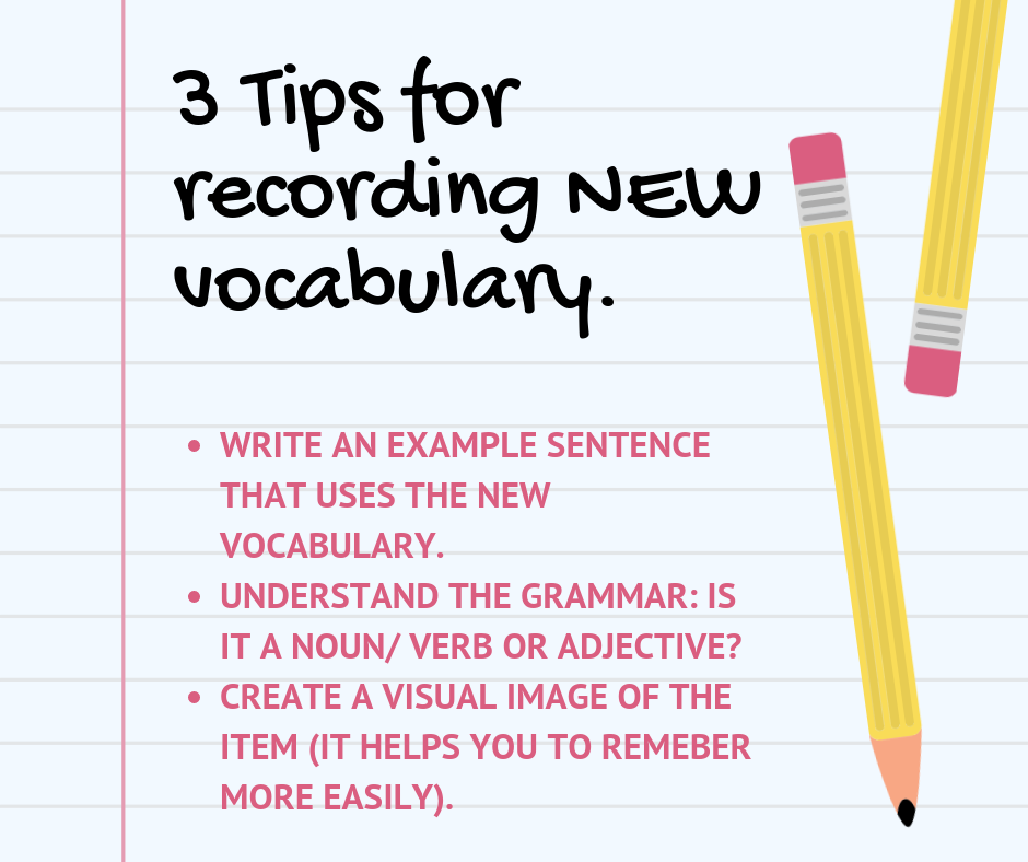 Tips for Recording Vocabulary